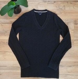 Tommy Hilfiger v neck cable knit sweater.  Medium